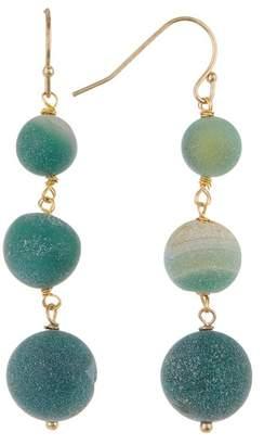 Melrose and Market Triple Druzy Stone Linear Earrings
