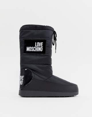 Love Moschino Logo Snow Boots