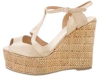 Castaner Metallic Wedge Sandals