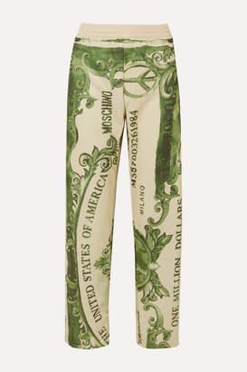 Moschino Printed Satin-jersey Track Pants - Green