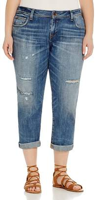Lucky Brand Plus Reese Distressed Boyfriend Jeans in Northridge Park