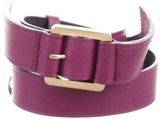 Meredith Wendell Leather Buckle Belt