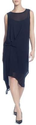 Catherine Malandrino Sleeveless Twist-Front Dress