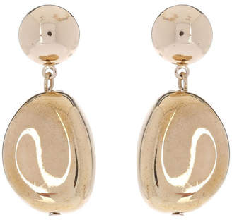 Organic Gold Drop Earring