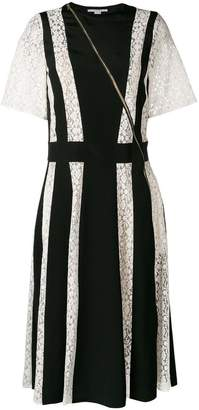 Stella McCartney lace stripe midi dress