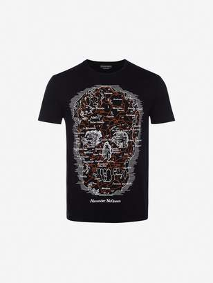 Alexander McQueen Map Skull T Shirt
