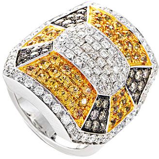 Heritage Oro Trend 18K Two-Tone 3.63 Ct. Tw. Diamond & Sapphire Ring