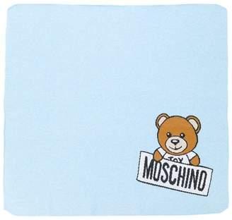 Moschino Kids Teddy Toy logo blanket