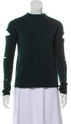 360 Cashmere Cashmere Cutout-Accented Sweater green Cashmere Cutout-Accented Sweater