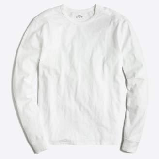 J.Crew Factory Long-sleeve textured cotton T-shirt