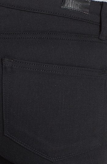 Paige 'Indigo' Zip Detail Ultra Skinny Jeans (Steel Grey)