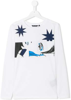 Antony Morato Junior graphic print long sleeve T-shirt