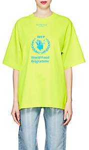 "Balenciaga Women's ""World Food Progamme"" Cotton T-Shirt-Yellow"