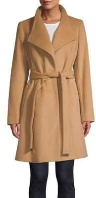 MICHAEL Michael Kors Belted Wool-Blend Wrap Coat