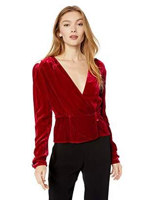 The Kooples Women's Women's Deep V-Neck Long Sleeve Party Blouse