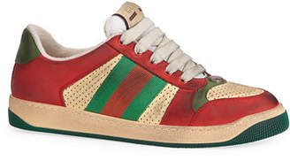 61837f30199 Gucci Men s Distressed Leather Sneakers