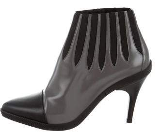 Louis Vuitton Pointed-Toe Leather Ankle Boots