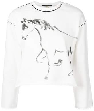 ALEXACHUNG Alexa Chung horse printed knitted top