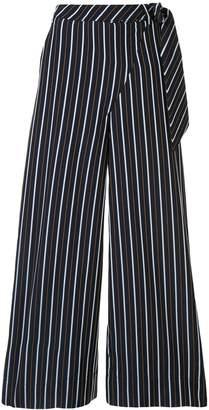 LAYEUR striped wide-leg trousers