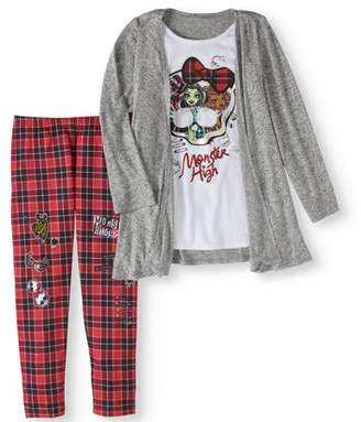 Monster High Girls' 2Fer Sweater Tunic and Legging 2-Piece Outfit Set