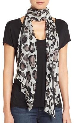 Vince Camuto Leopard Print Silk Scarf $48 thestylecure.com