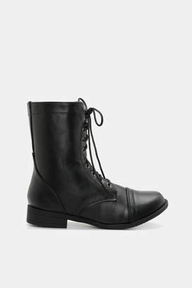 Ardene Cap Toe Combat Boots
