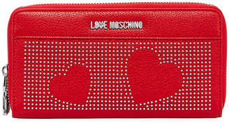 Love Moschino Portafogli Faux-Leather Studded Hearts Wallet