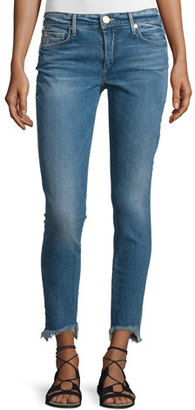 True Religion Halle Super-Skinny Raw-Hem Jeans, Gypset Blue $199 thestylecure.com