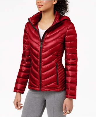 Calvin Klein Petite Hooded Puffer Coat
