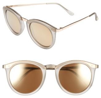 Women's Le Specs No Smirking 50Mm Polarized Sunglasses - Mist Matte $89 thestylecure.com