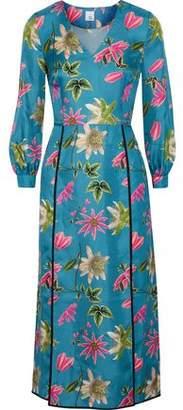 Iris & Ink Brooke Floral-Print Silk-Satin Twill Midi Dress