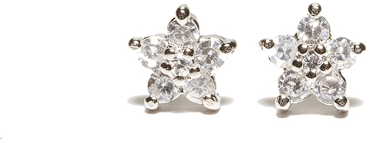 The Limited Sterling Silver CZ Baby Flower Stud Earrings