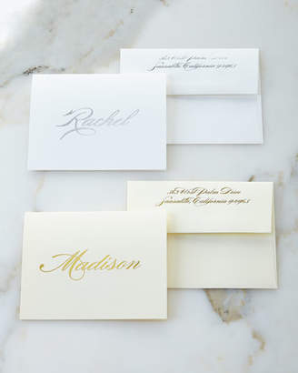 Boatman Geller Foil-Embossed Foldover Notes with Personalized Envelopes