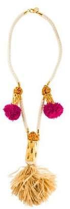 Tory Burch Cactus Tassel Necklace