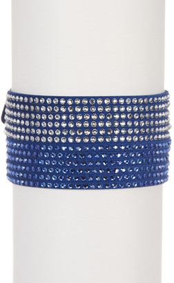 Swarovski Slake Crystal Wrap Bracelet $69 thestylecure.com