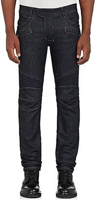 Balmain Men's Skinny Biker Jeans - Dk. Blue