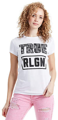 True Religion Floral Filled True Womens Tee