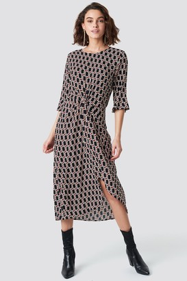 Rut & Circle Rut&Circle Midi Pattern Dress Printed