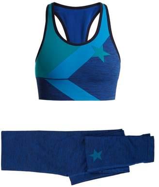 Lndr - Bra And Leggings Performance Set - Womens - Blue Multi