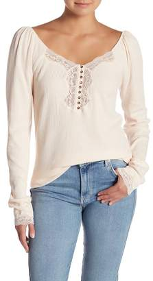 Free People To the West Fitted Top