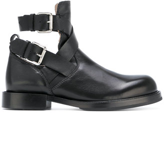 Diesel cut-out buckled ankle boots $293.06 thestylecure.com