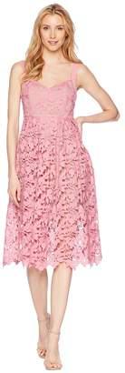 Donna Morgan Lace Midi Dress with Sweetheart Neckline Women's Dress