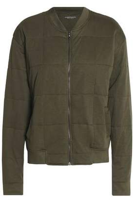 Majestic Filatures Quilted Jersey Bomber Jacket