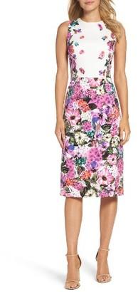 Women's Maggy London Floral Garden Sheath Dress $76.80 thestylecure.com