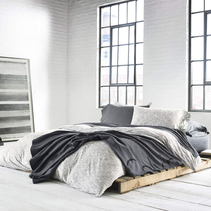 Modern Cotton Strata Marble Duvet Cover - Single