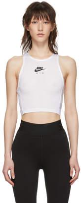 Nike White Miler Cropped Tank Top