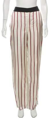Lanvin Satin High-Rise Wide-Leg Pants