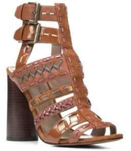 Donald J Pliner Leather Cage Sandals