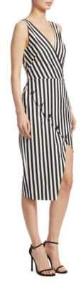 Altuzarra Marceau Striped Asymmetrical Dress