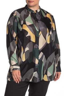 Lafayette 148 New York Brayden Silk Blouse (Plus Size)